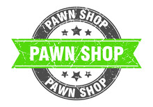 Pawn Shop Round Stamp With Rib...