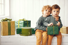 Cute Little Boys In A Studio. ...