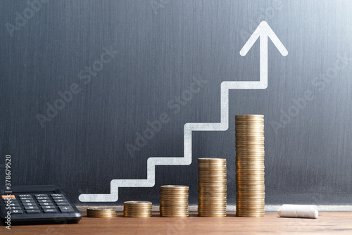 Financial growth and investment progress Tableau sur Toile