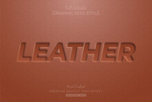 Leather Embossed Editable Eps Text Style Effect Premium