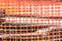 Close-up Of An Orange Plastic ...