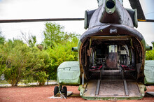 Open Cargo Door And Ramp To A Large Military Helicopter
