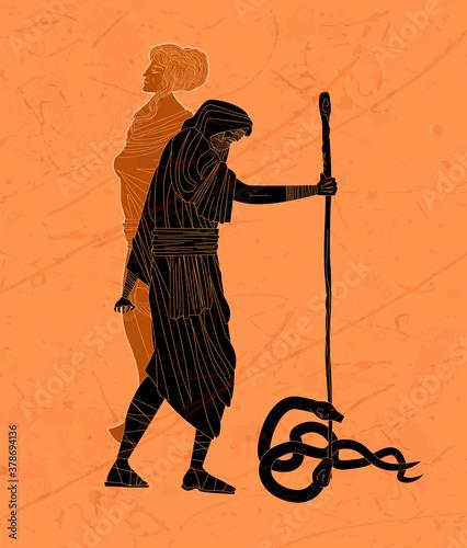 Obraz na plátně tiresias blind greek prophet half woman and half man killing two snakes with a s
