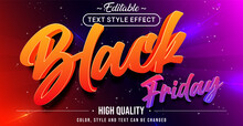 Editable Text Style Effect - Black Friday Theme Style.
