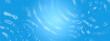 Leinwanddruck Bild - 青い水面に広がる波紋