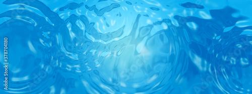 Fotografie, Obraz 青い水面に広がる波紋