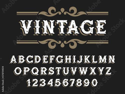 Fotografie, Obraz Western font 002