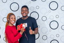 Excited Lady Flaunting An Enve...