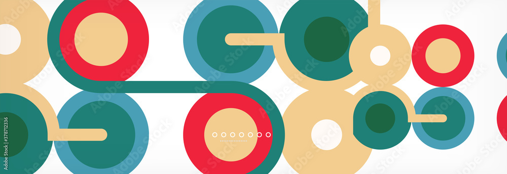 Fototapeta Circles and lines abstract background for covers, banners, flyers and posters and other templates