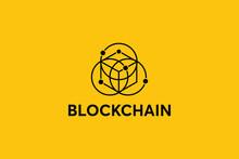 Blockchain Logo Template. Hexa...