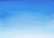 水彩の滲みテクスチャ 青空のイメージ