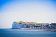 canvas print picture - vue de la falaise et de la ville de Mers-les-Bains