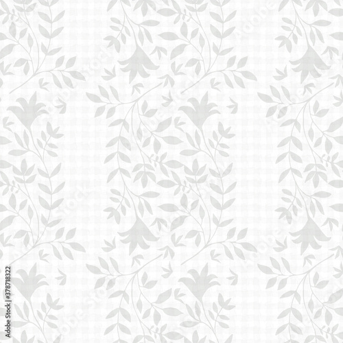 Elegant jacquard effect wild meadow grass seamless vector pattern background Wallpaper Mural