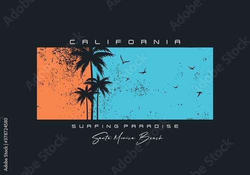 Photo California  typography, tee shirt graphics, vectors, surfing paradise,