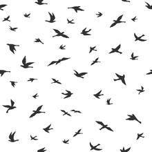 Flying Bird Seamless Pattern. ...