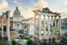 Roman Forum At Sunrise, Rome, ...