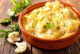 cauliflower gratin with cream and cheese