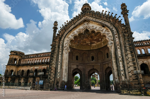 Lucknow, India - September 2020: The Rumi Darwaza is an imposing gateway which was built under the patronage of Nawab Asaf-Ud-Daula in 1784 in Lucknow on September 6, 2020 in Uttar Pradesh, India Canvas Print