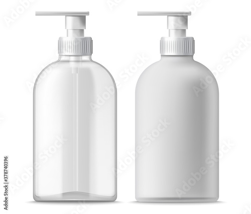 Set of two clear and white blanc dispensers Canvas Print