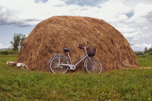 Bicycle In A Field Near A Hays...