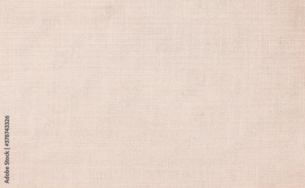 Fototapeta Close up beige linen fabric texture background