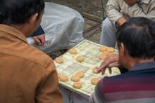 """Chinese Men Playing """"Xiangqi"""",..."""
