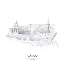 Abstract Polygonal 3d Cargo Sh...