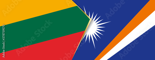 Fotografie, Obraz Lithuania and Marshall Islands flags, two vector flags.
