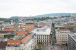 Panorama of Budapest Hungary from the tower of famous St Istvan cathedral