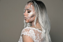 Halloween. Woman In Day Of The...
