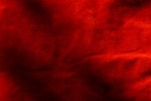 Dark Red Matte Background Of Suede Fabric, Closeup. Velvet Texture Of Seamless Wine Leather. Felt Material Macro. Red Texture