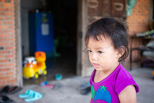 Portrait Of Little Asian Child...