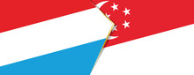 Luxembourg And Singapore Flags...