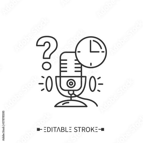 Fotografie, Tablou Podcast timing line icon