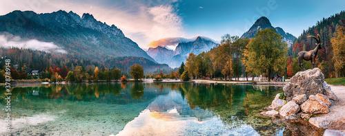 Obraz Jasna lake, Slovenia - fototapety do salonu