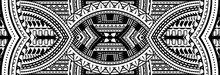 Art Tattoo Sleeve In Polynesian Style Border
