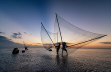 Shadow Fishermen In The Early ...
