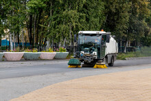 Machine For Cleaning City Streets And Sidewalks.