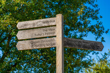 Wooden Sign Post With Directions In Epping Forest