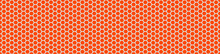 Seamless Vector Banner Of Orange Honeycomb Mosaic. Orange Hexagon Tiles Background. Print For Wrapping, Backgrounds, Fabric, Packaging, Scrapbooking. Other Mosaic Patterns In Mosaic Collections.
