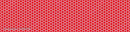 Fototapeta Seamless vector banner of red random honeycomb mosaic
