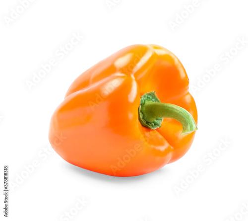 Fototapeta Ripe orange bell pepper isolated on white obraz
