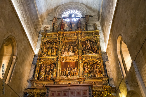 Fotografia Altarpiece in the Cathedral of Lugo. Galicia. Spain