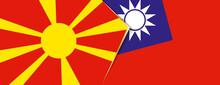 Macedonia And Taiwan Flags, Tw...