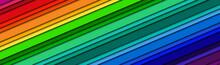 Abstract Header With Rainbow C...