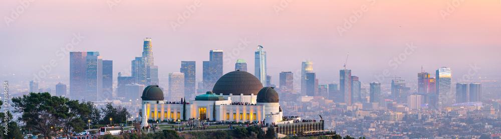 Fototapeta Los Angeles skyline panorama