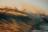 closing wave at sunset background - 378848107