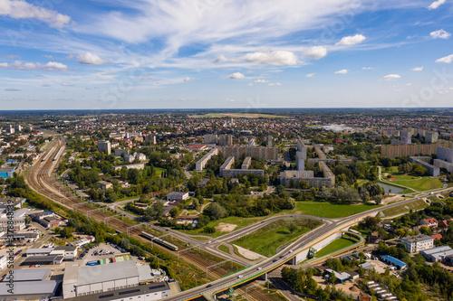 Fototapeta Panorama miasta RADOM-  krajobraz z lotu ptaka obraz