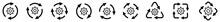 Gears Cogwheel Icon In Arrows ...