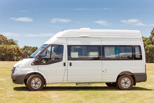 Side View Of Campervan On Meadow - Waitangi, Bay Of Islands, New Zealand